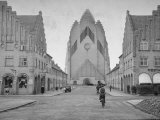 Grundtvig Church in the City of Copenhagen Photographic Print