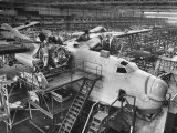 Men Working on Martin Patrol Bomber at Glenn Martin Plant Photographic Print by Myron Davis