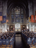 West Point Cadets Attending Service at Cadet Chapel Premium Photographic Print by Dmitri Kessel