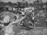 Children Playing in Bombed Out Ruins of the City Premium Photographic Print by Carl Mydans