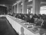Delegates Attending International Monetary Conference to Plan for Postwar Reconstruction Premium Photographic Print by Alfred Eisenstaedt