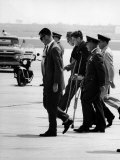Pres. John F. Kennedy on Crutches Due to Back Ailment Premium Photographic Print by Ed Clark