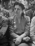 Politico Helen Gahagan Douglas at Democratic National Convention Premium Photographic Print by Alfred Eisenstaedt