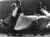 Couples Dancing the Cseadas in their Local Costumes of Mezokovesd Premium Photographic Print