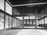 Emperor's Bedroom in Ontsune-Goten Building of Kyoto Imperial Palace Premium Photographic Print by Dmitri Kessel