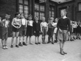 "Peter Neve Playing ""Wolf"" in Class Game in the Schoolyard Premium Photographic Print"