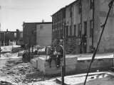 Picture of Two Boys in the Slums of Baltimore Premium Photographic Print