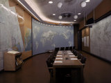 General Staff Map Room Premium Photographic Print by Dmitri Kessel