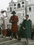 Dior Models in Soviet Union for Officially Sanctioned Fashion Show Premium Photographic Print