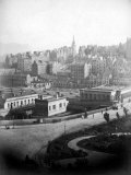 Old Town from Princes Street in the City of Edinburgh Premium Photographic Print