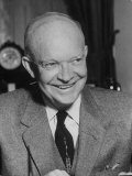 President Dwight D. Eisenhower Close-Up Premium Photographic Print by Ed Clark