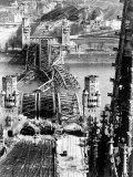 Ruins of the Hohenzollern Bridge Destroyed by Allied Air Raids Premium Photographic Print by Margaret Bourke-White