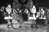 Santa Claus Training Class at Santa Claus School Photographic Print by Alfred Eisenstaedt