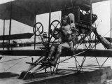 Pilot Albert C. Read, Future Us Navy Admiral, at the Controls of Nc-4 Biplane in 1919 Photographic Print