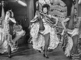 Girls Dancing the Can-Can at Baltarbarin Nightclub in Paris Premium Photographic Print