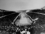 Panathenian Stadium During Olympic Games Premium Photographic Print