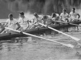 Kent School Crew Resting after Time Trials Premium Photographic Print