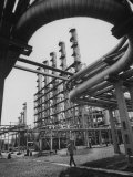 Fraction Plant Industry of Oil Refinery Premium Photographic Print by Carl Mydans