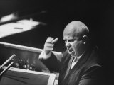 Soviet Prime Minister Nikita S. Khrushchev Speaking at the Un General Assembly Premium Photographic Print
