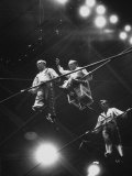 Members of the Great Wallenda Troupe Performing at Shrine Circus Premium Photographic Print