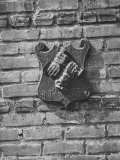 Fire Mark', Plaque with Fire Insurance Company Emblem, Still on Philadelphia Building Premium Photographic Print by Andreas Feininger