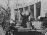 Pres. Dwight D. Eisenhower During Inauguration Day Photographic Print by Ed Clark