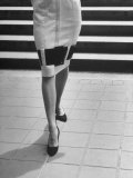 Waist-Down View of Dress with Belt as an Accent around Knees Premium Photographic Print by Nina Leen