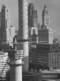 New Buildings of All Types Premium Photographic Print by Andreas Feininger