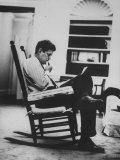 Pres. John F. Kennedy Sitting in Rocking Chair Premium Photographic Print