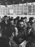 Cuban Communist Leader Fidel Castro at the Un Headquarters Premium Photographic Print