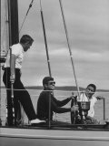 Pres. John F. Kennedy Sailing Photographic Print