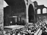 Greco-Roman Wrestling Matches Held in Ruins of Basilica of Maxentius Premium Photographic Print