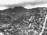 Housing on Hillsides of Honolulu Premium Photographic Print