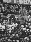 Sen. John F. Kennedy Speaking at Rally for His Presidential Campaign Photographic Print