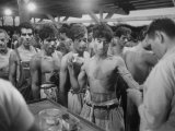 "Mexican ""Braceros"" Being Examined at Reception Center before Being Put to Work Premium Photographic Print"