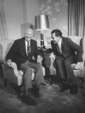Pres. Dwight D. Eisenhower and Vice Pres. Richard M. Nixon at Hotel During Gop Convention Premium Photographic Print