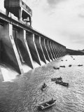 Tva Projects in the Kentucky Lake Dam Premium Photographic Print by Ralph Crane