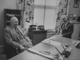 Dwight D. Eisenhower and Henry R. Luce at Ike's Home in Gettysburg Premium Photographic Print by Ed Clark