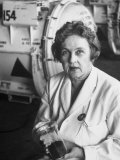 Scientist Dr. Maria Telkes, Dir. of Research to Synthesize Chemicals Used in Polaris Missiles Premium Photographic Print by Alfred Eisenstaedt