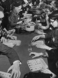 Bingo Game Being Held for Gift Show at La Salle Hotel Photographic Print