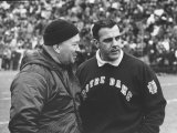 Notre Dame Coach Ara Parseghian Photographic Print by John Dominis