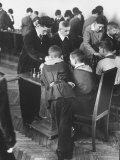 Children Receiving Lessons in Chess at the Young Pioneers Palace Premium Photographic Print