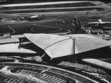 The Twa Terminal, Designed by Eero Saarinen Premium Photographic Print by Dmitri Kessel