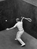 Player Playing Squash at a Local Club Photographic Print by Yale Joel