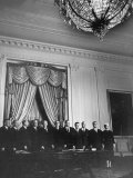 President Dwight D. Eisenhower and His Cabinet, Posing for an Official Picture Premium Photographic Print