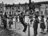 Playground Scene from the Slums of Baltimore Photographic Print