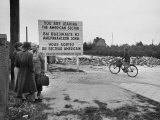 Street Barricade on Street Leading into the Soviet Zone Premium Photographic Print by Carl Mydans