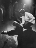 Busboy Juan Romero Trying to Help Robert F. Kennedy after He Was Fatally Wounded Premium Photographic Print