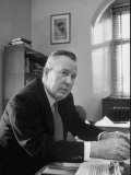 Canadian Parliament Member and Nobel Peace Prize Winner Lester B. Pearson in His Office Premium Photographic Print by Alfred Eisenstaedt