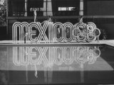 6 Foot Sign Will Stand Outside Each Arena and Stadium of 1968 Olympics, to Be Held in Mexico City Premium fotografisk trykk av John Dominis